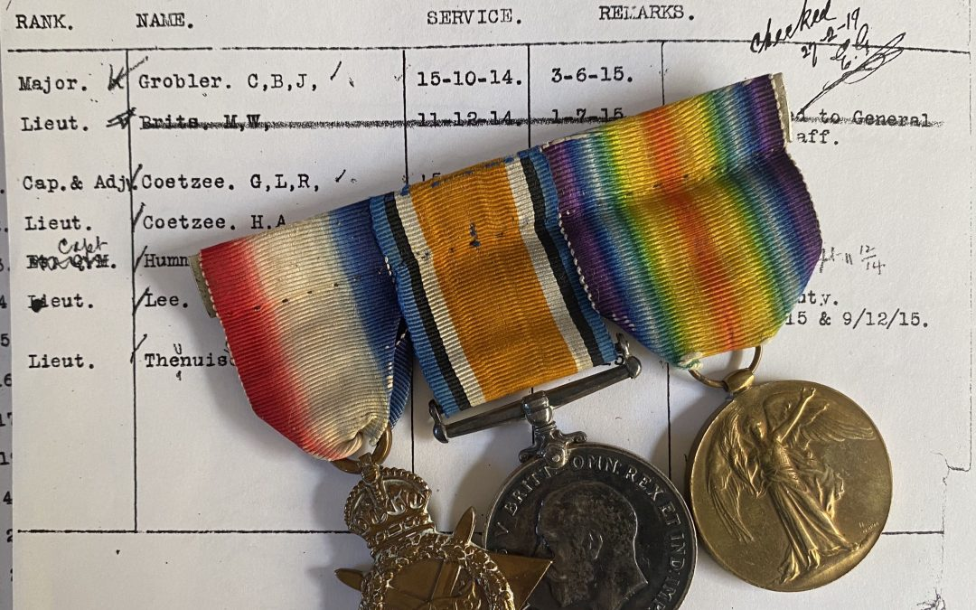 Medal Rolls for the Guides, Patrols, Intelligence and Scouting Units in German South-West African Campaign… Botha's, Grobler's, Uys' Scouts / Verkenners and Prinsloo's Guides