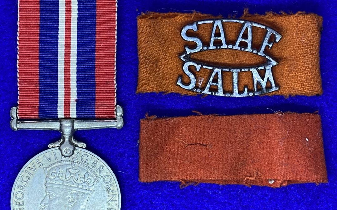 The Single 1939-45 War Medal issued to a South African with no Africa Service Medal.  Is this possible or not?